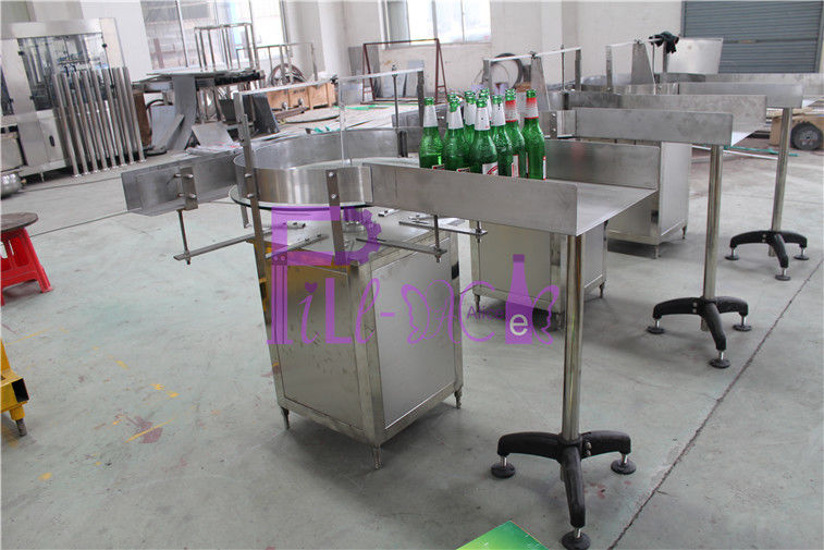 Semi Automatic Glass Bottle Sorting Machine Rotary Type For Water Production Line