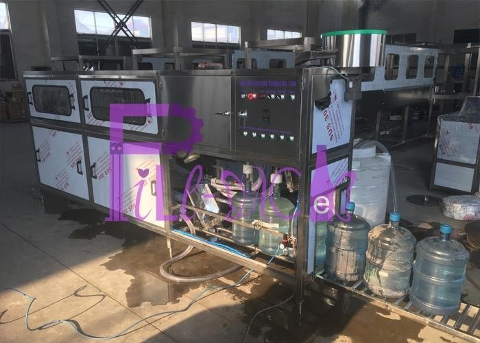 SUS304 5 Gallon Water Filling Machine / Line , 200BPH Pure Water Filling Machine
