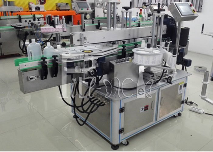 Self Adhesive PET / Plastic Sticker Square Flat Bottle Labeling / Labeler Machine / Equipment / Plant / System